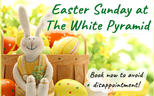 easter sunday white pyramid