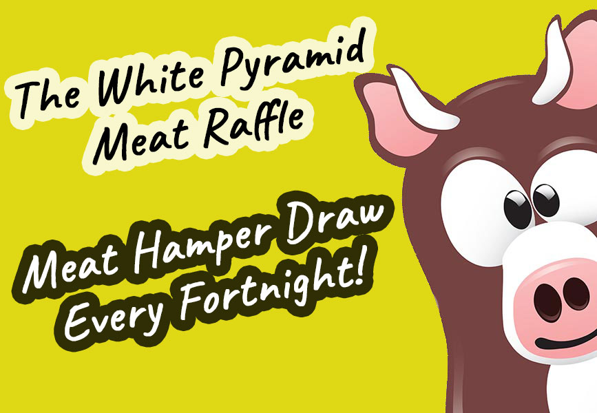 meat raffle white pyramid